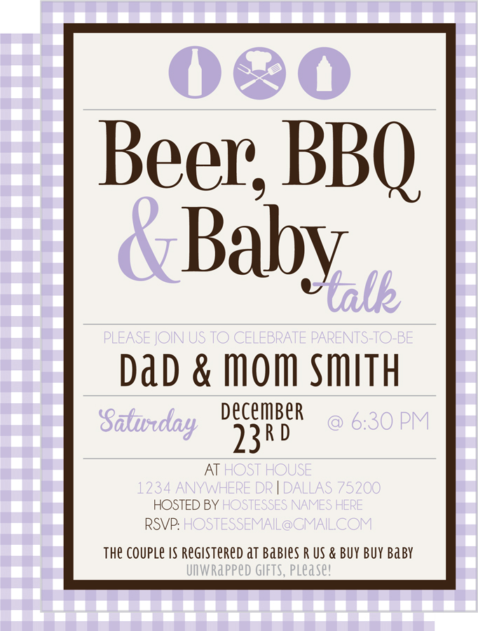 Coed Baby Shower Invitations Bbq was good invitations example