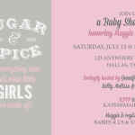 Sugar & spice Baby Shower Invitation