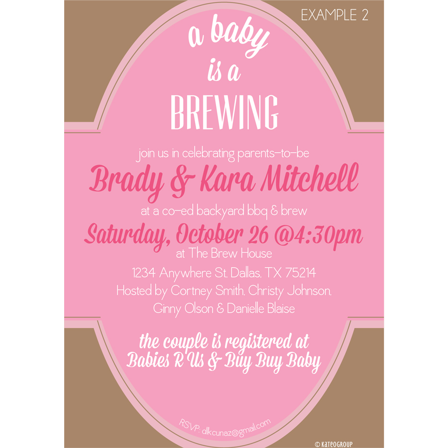 a baby is brewing baby shower invitation kateogroup