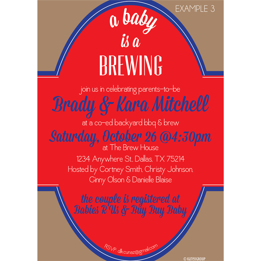 A Baby is Brewing Baby Shower Invitation | KateOGroup