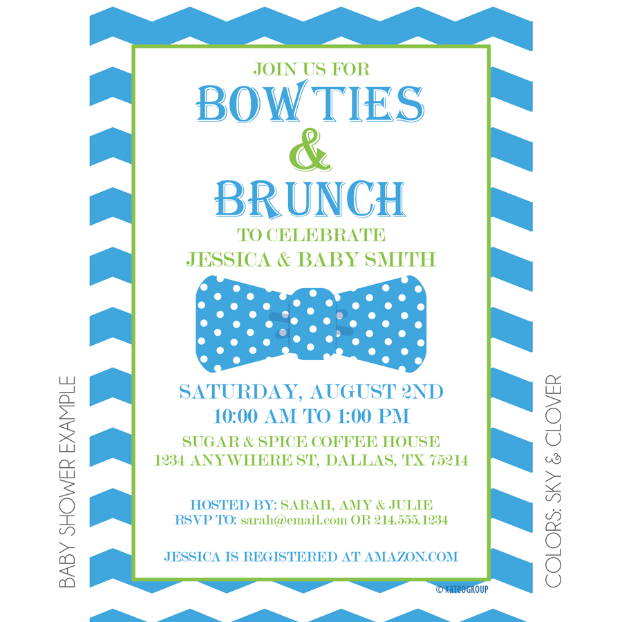 Bowties And Brunch Invitation