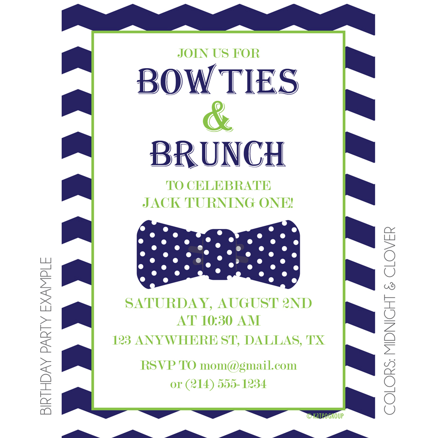 Bowties and Brunch Invitation | KateOGroup
