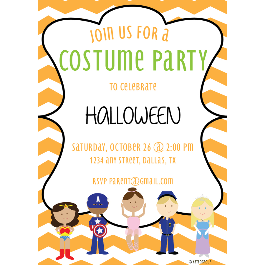 costume party invitation kateogroup