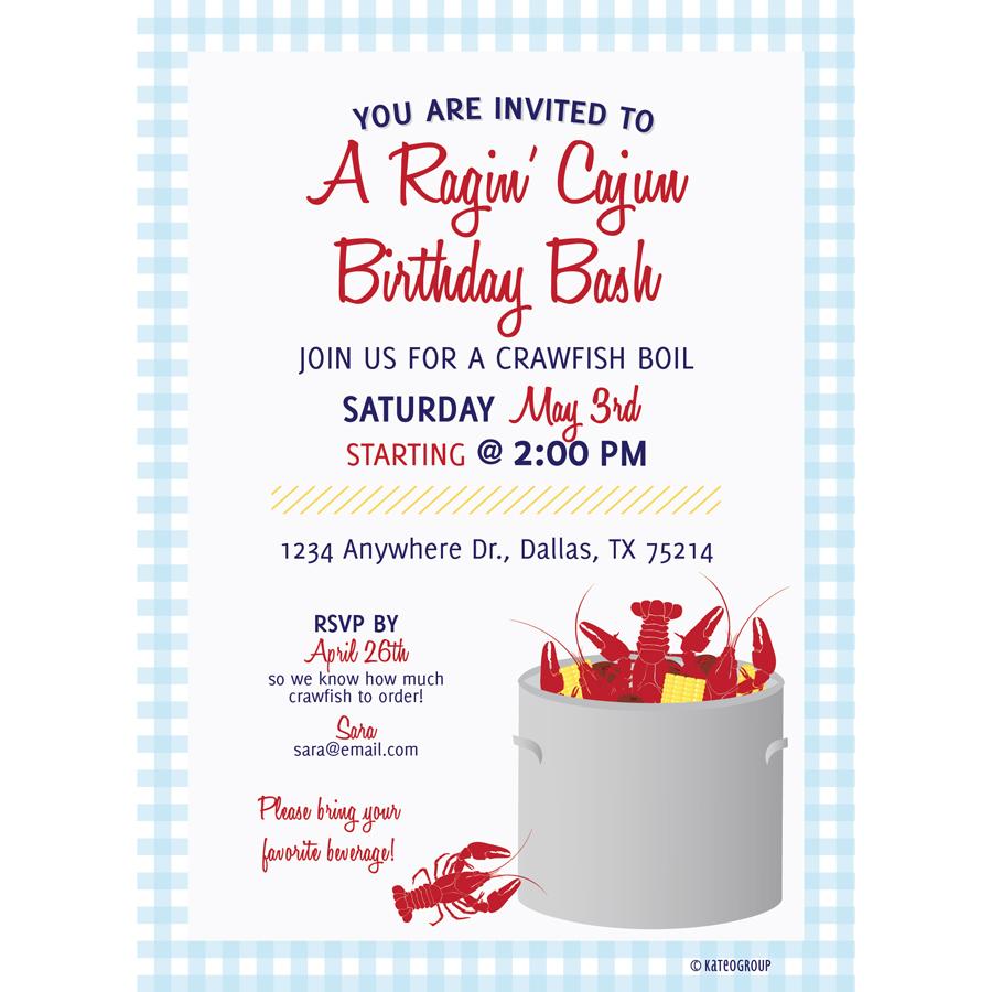 Crawfish Boil Invitation KateOGroup