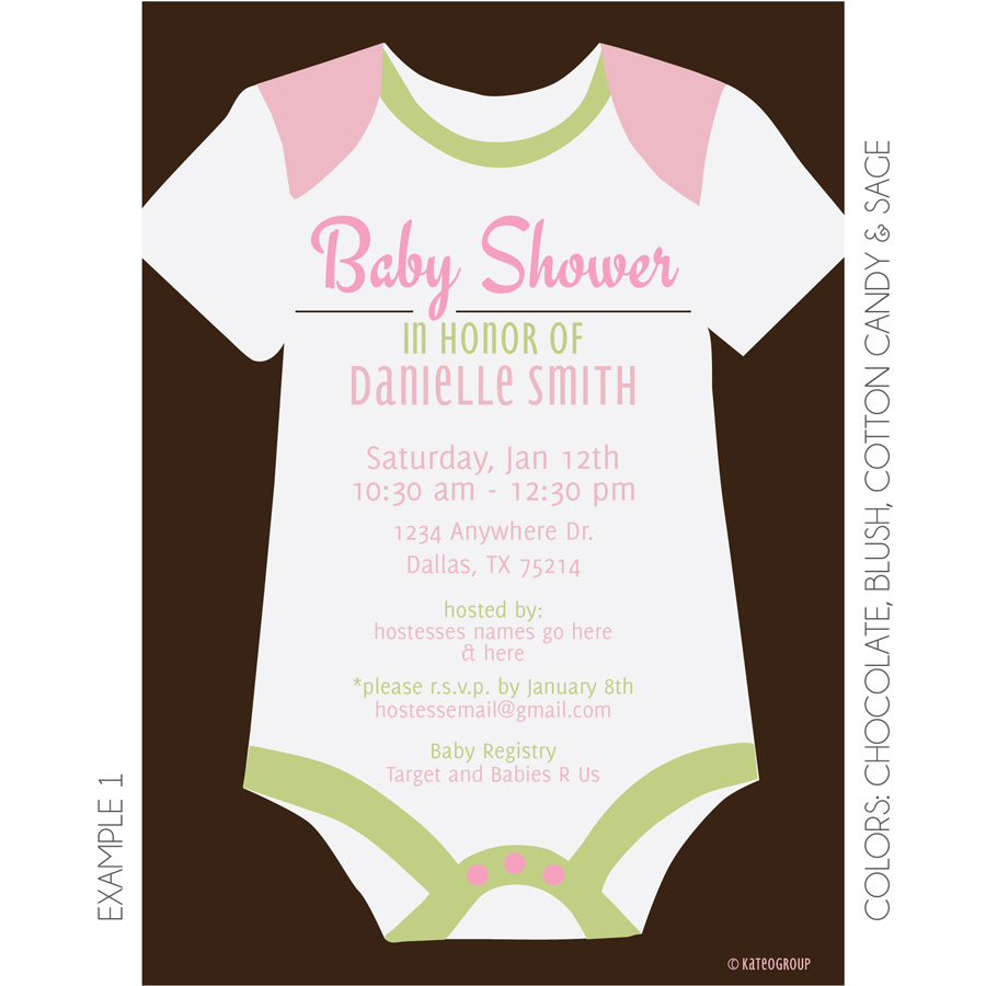 Onesie Baby Shower Invitation is the best ideas you have to choose for invitation example