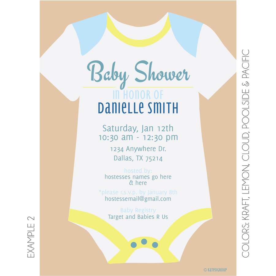Onesie Baby Shower Invitation correctly perfect ideas for your invitation layout