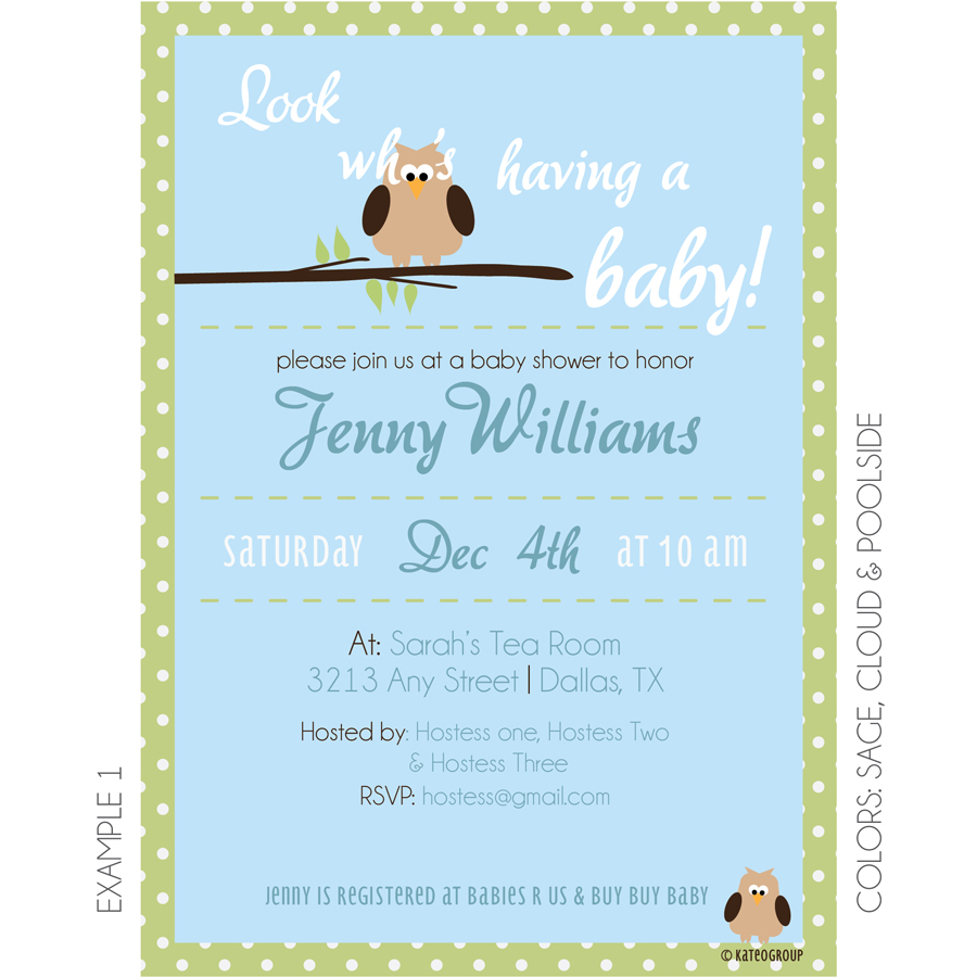 owl theme baby shower invitation kateogroup
