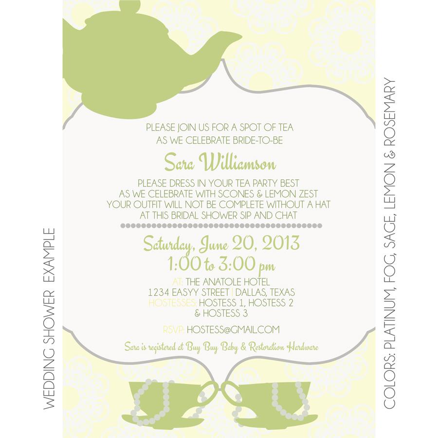 Tea Party Invitation | Custom Invitation | KateOGroup