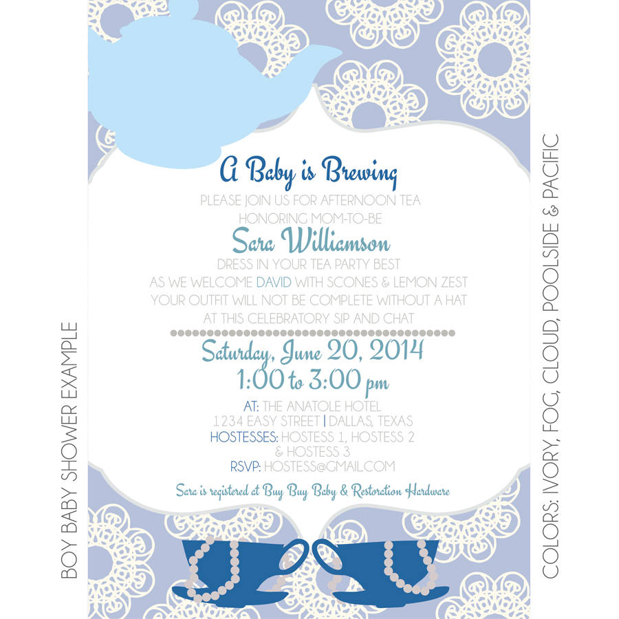 Tea Party Invitation | Custom Invitation | KateOGroup