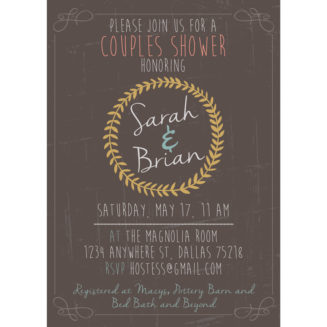 custom wedding shower invitations