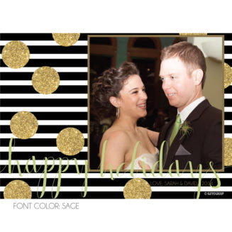 Gold Glitter Happy Holidays Photo Card