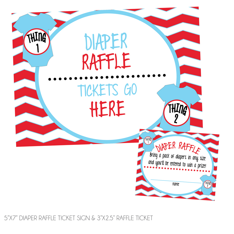 thing one thing two diaper raffle tickets sign kateogroup
