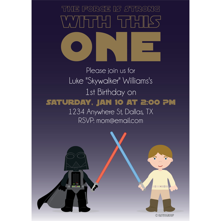 StarWars First Birthday Invitation