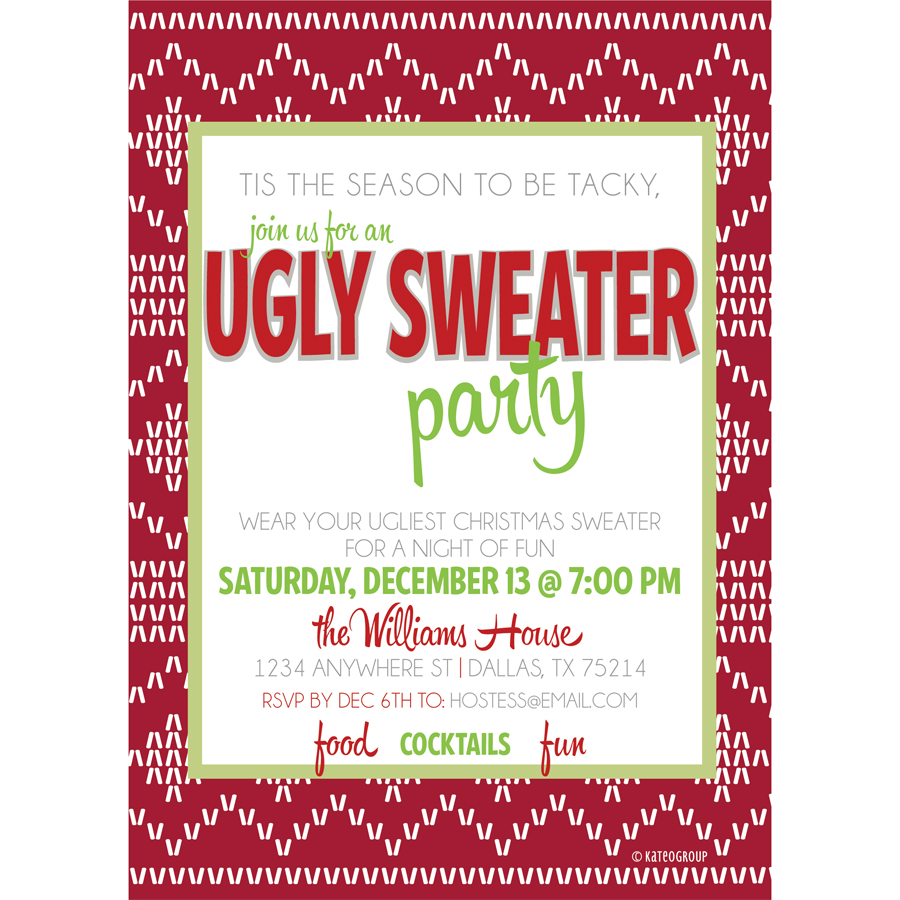 ugly sweater party invitation  kateogroup, Party invitations