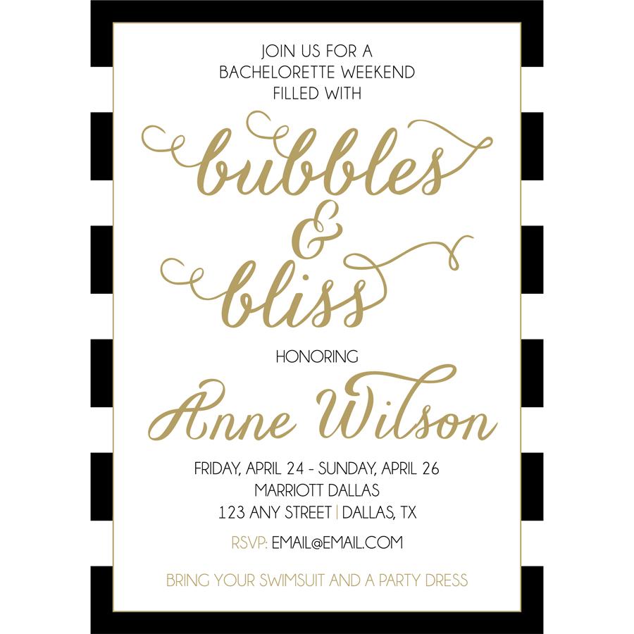 Bubbles and Bliss Bachelorette Party | KateOGroup