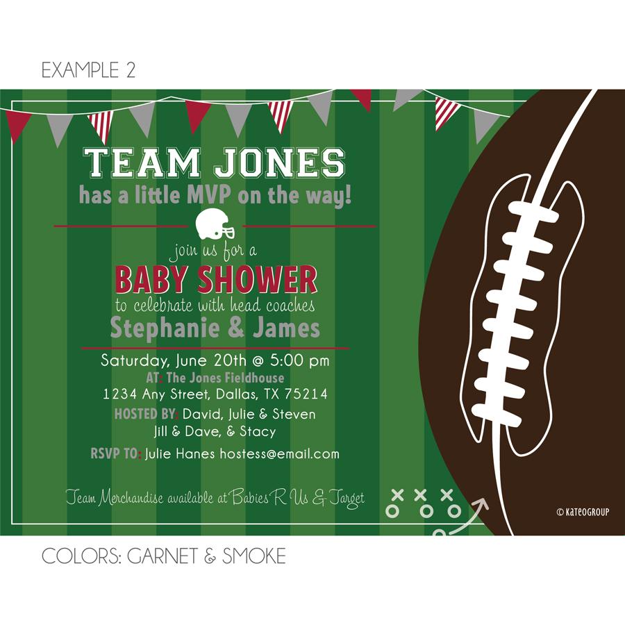 Football Field Baby Shower Invitation