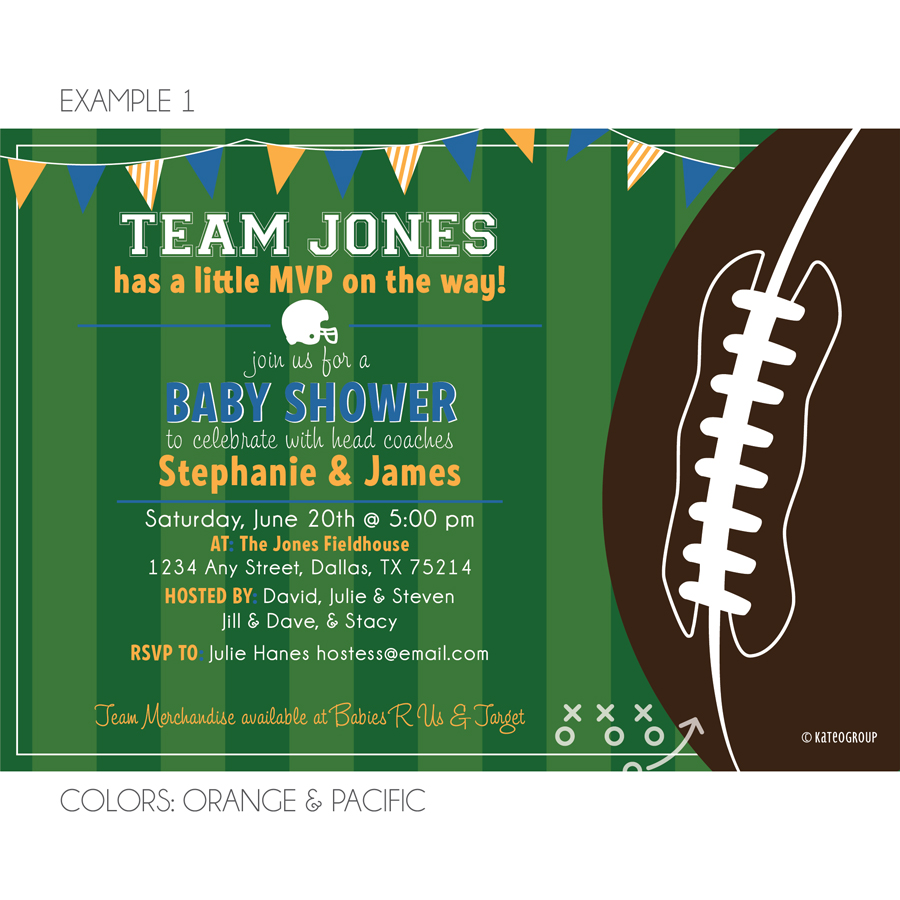 football field baby shower invitation kateogroup