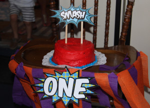Superhero Smash Cake Sign