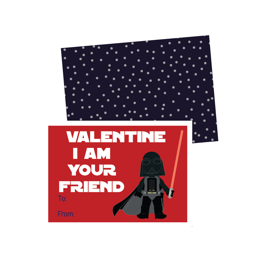 Printable Star Wars Valentines Cards