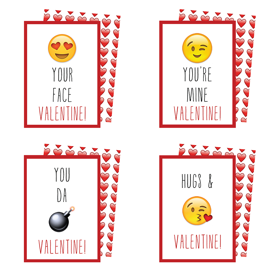 photograph about Printable Emojis identified as Printable Emoji Valentines Playing cards