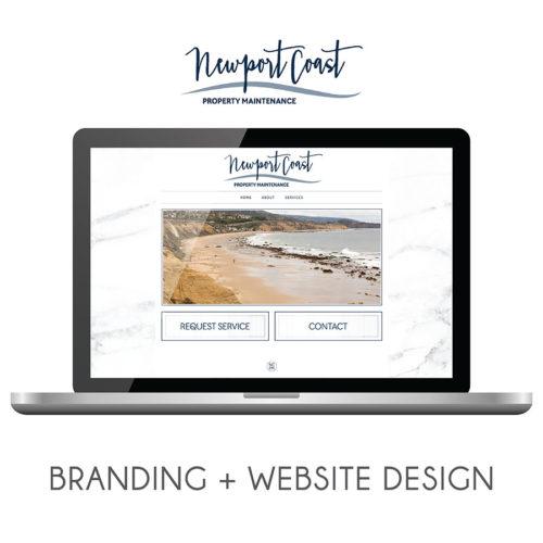 Newport Coast Property Management Branding and Website Design