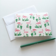 Flamingo-Note-Cards