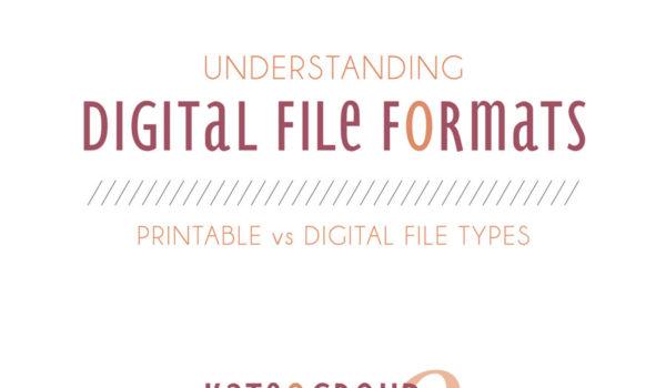 Understanding Digital File Formats
