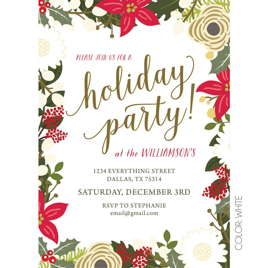 Fl Holiday Party Invitation